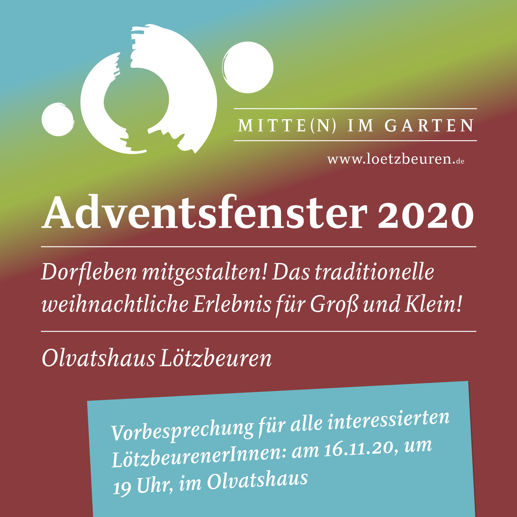 Adventsfenster Loetzbeuren 2020
